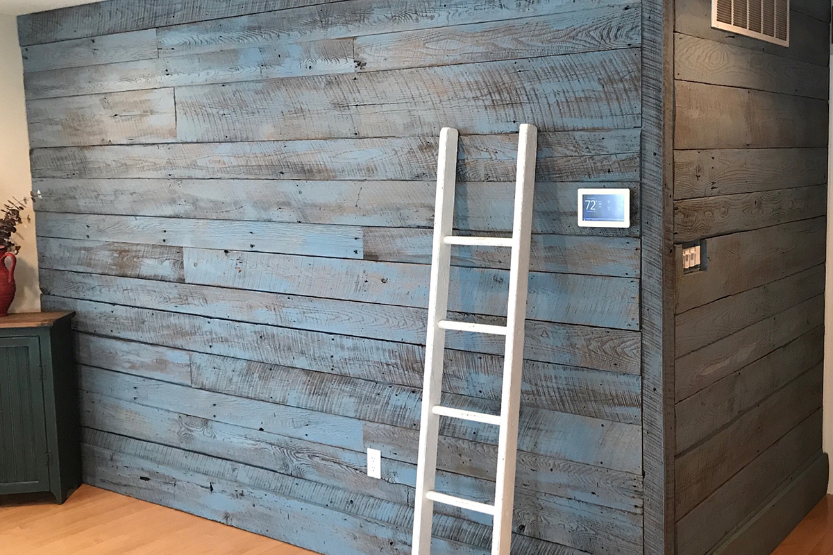 Add Reclaimed Barn Wood Paneling