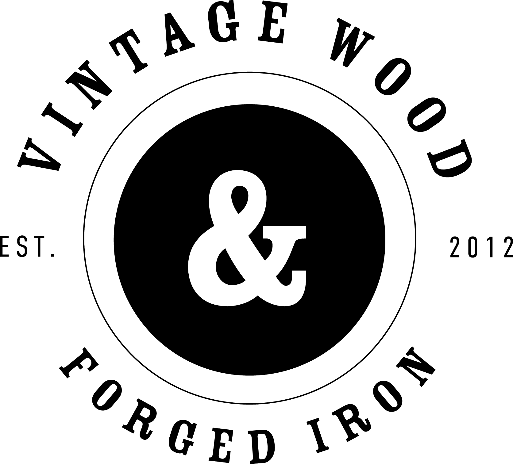 Vintage Wood and Forged Iron
