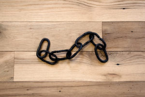 black forged iron chain