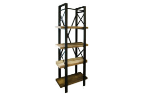 Reclaimed wood & iron tubing - Open Shelf Unit