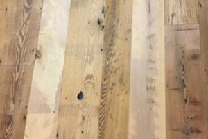 Reclaimed Maple and Hemlock Wood Wall Planks